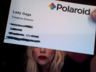 Polaroid Lady Gaga